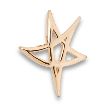 Heartbeat of El Paso Collection: El Paso Star on the Mountain™ Gold Pendant in 4 Sizes