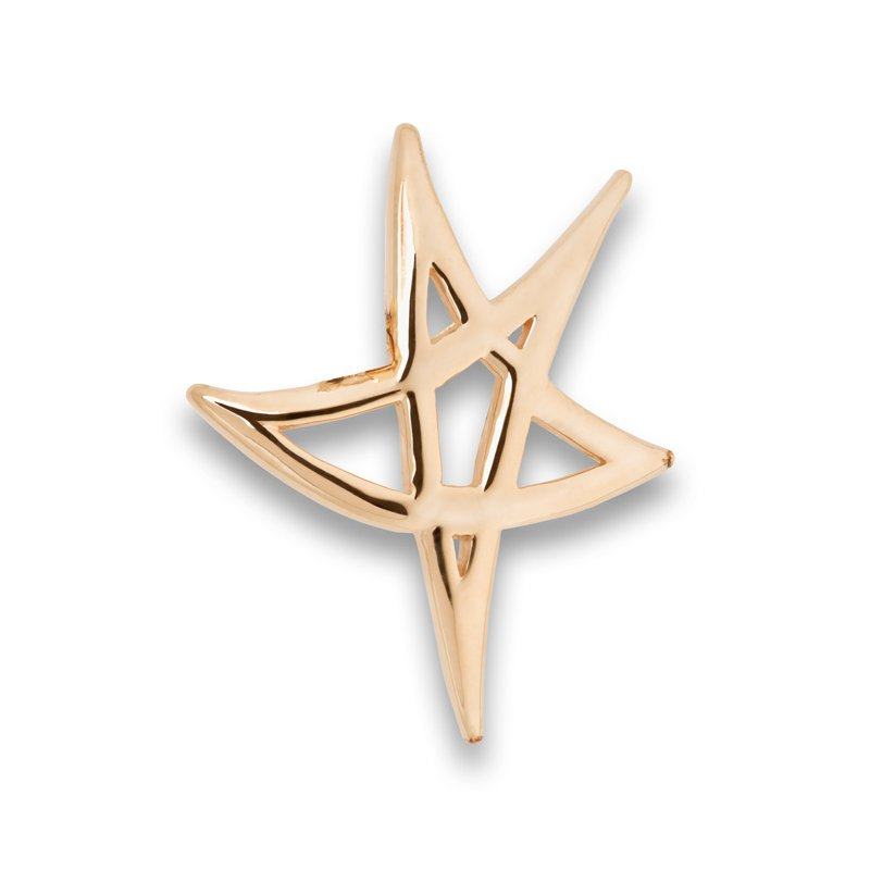 El Paso Star and Gifts Heartbeat of El Paso Collection: El Paso Star on the Mountain™ Gold Pendant in 4 Sizes