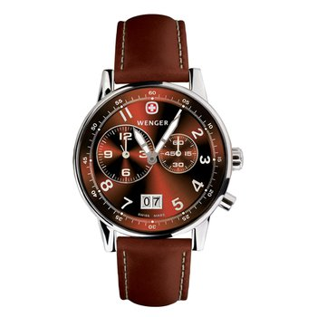 Wenger Mens Brown Commando Dual Time 2 Eye Watch