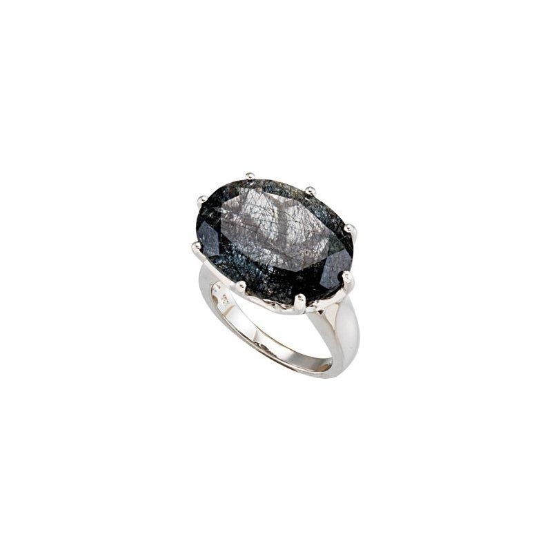 Holiday Ideas Genuine Tourmalinated Quartz Ring