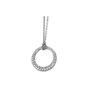 1 1/6 ct tw Diamond Circle Necklace