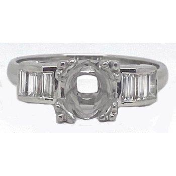 Platinum and Diamond, Art Deco style Mounting