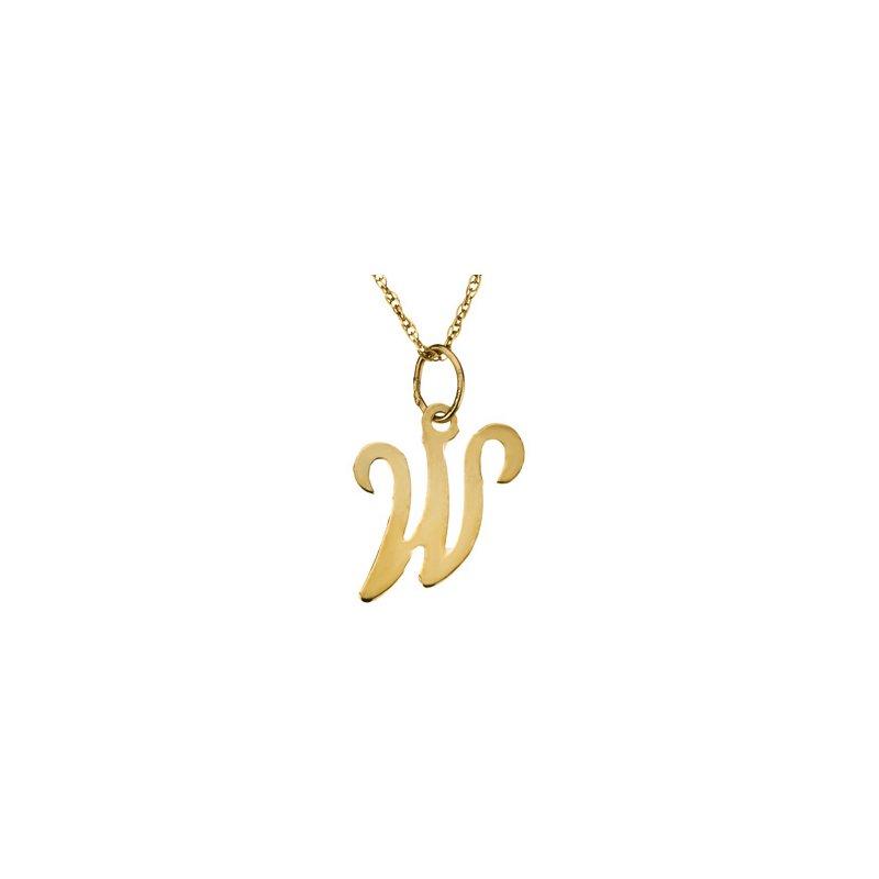 """Ladies' Jewelry Initial """"W"""" Necklace"""