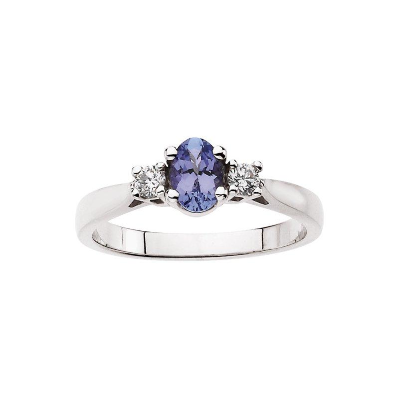 Ladies' Jewelry Genuine Tanzanite & Diamond Ring