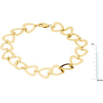Geometric Heart Bracelet