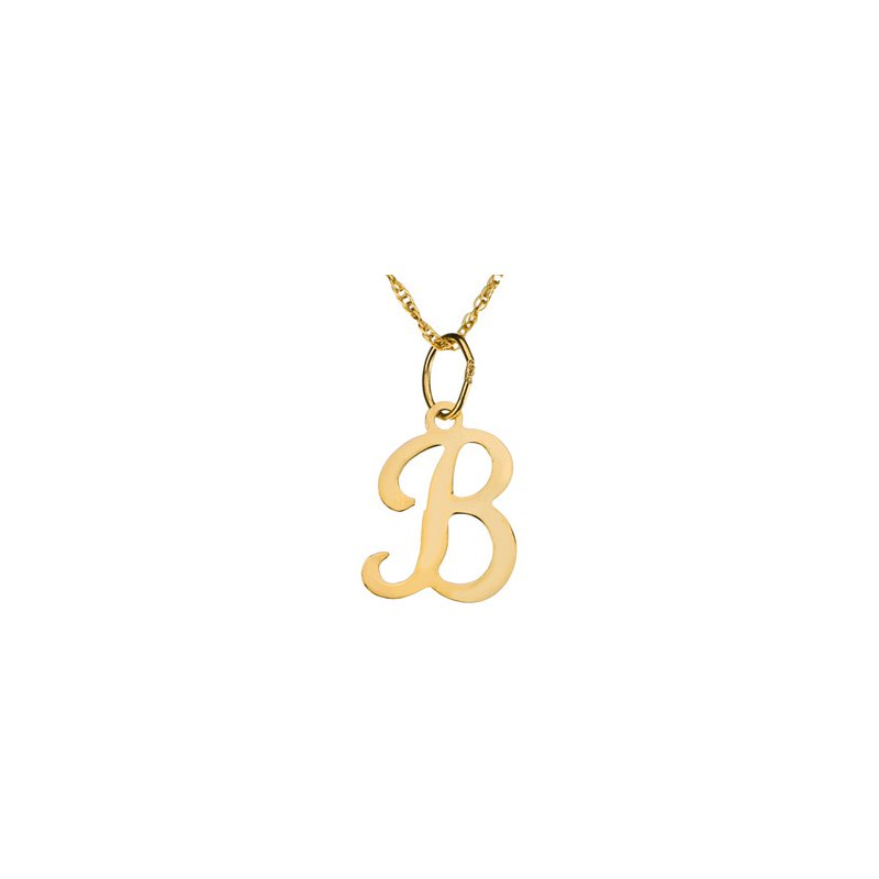 "Ladies' Jewelry Initial ""B"" Necklace"