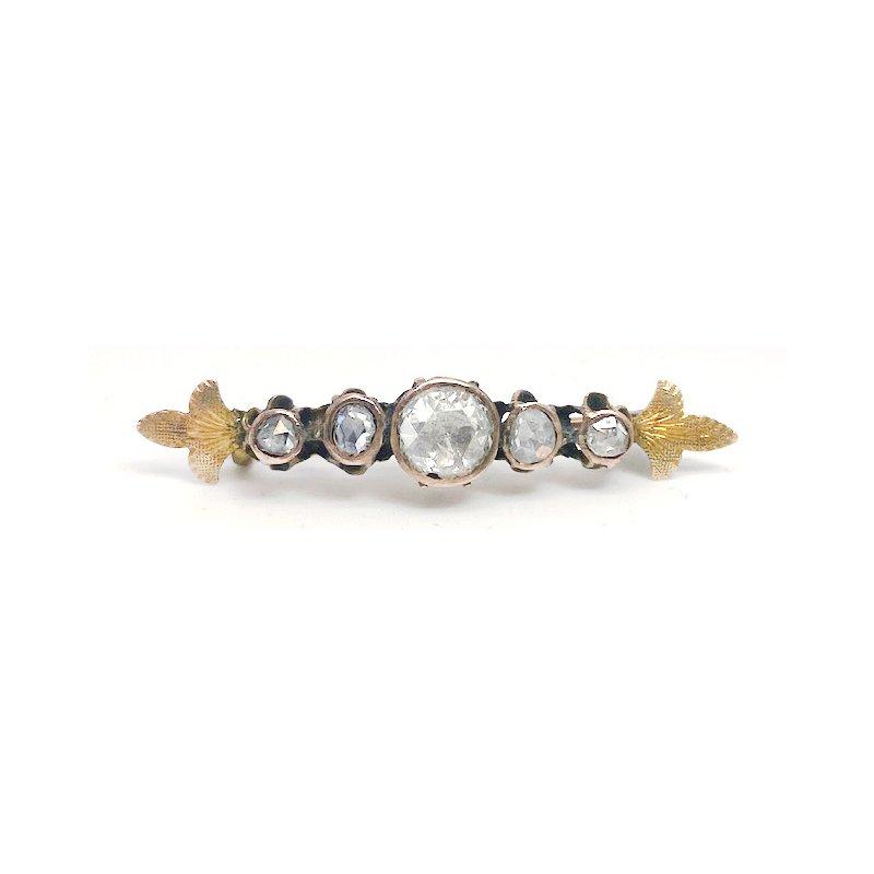 Estate & Vintage Lady's Victorian design diamond bar pin