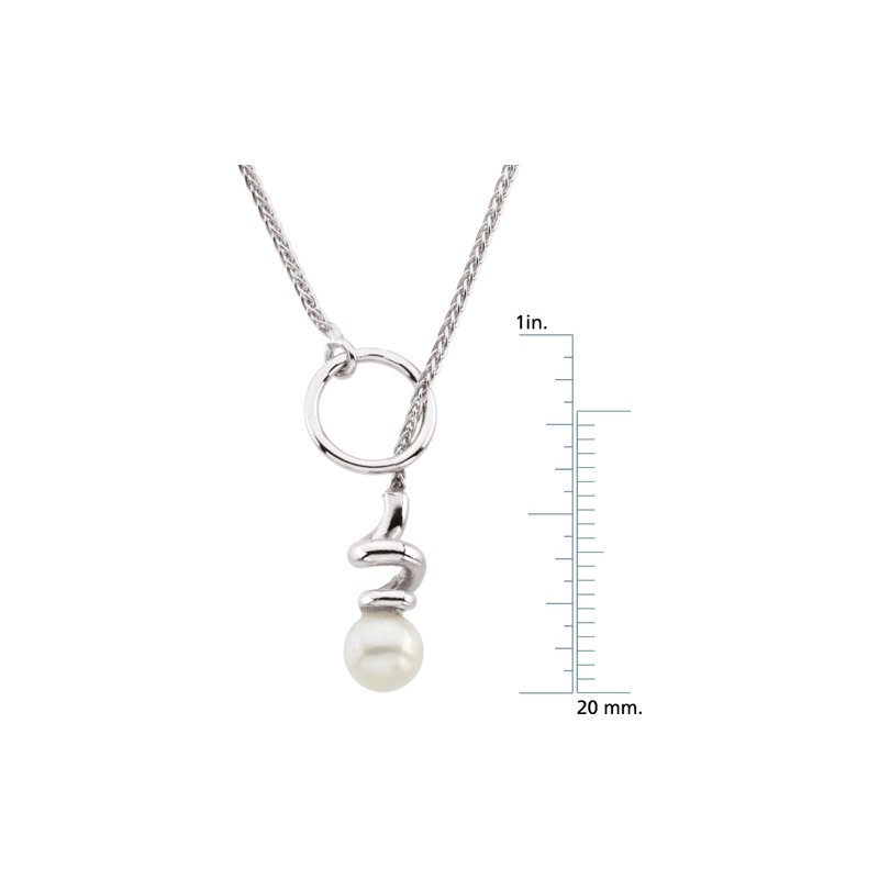 Ladies' Jewelry Freshwater Cultured Pearl Lariat Necklace