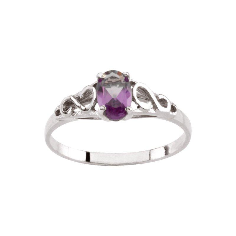 Birthstone Jewelry Teen Imitation June Birthstone Ring
