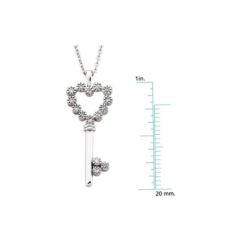 Ladies' Jewelry Diamond Heart Key Necklace