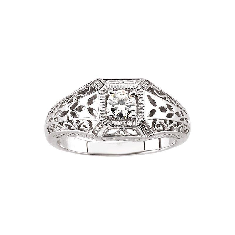 Ladies' Jewelry Moissanite Fashion Ring
