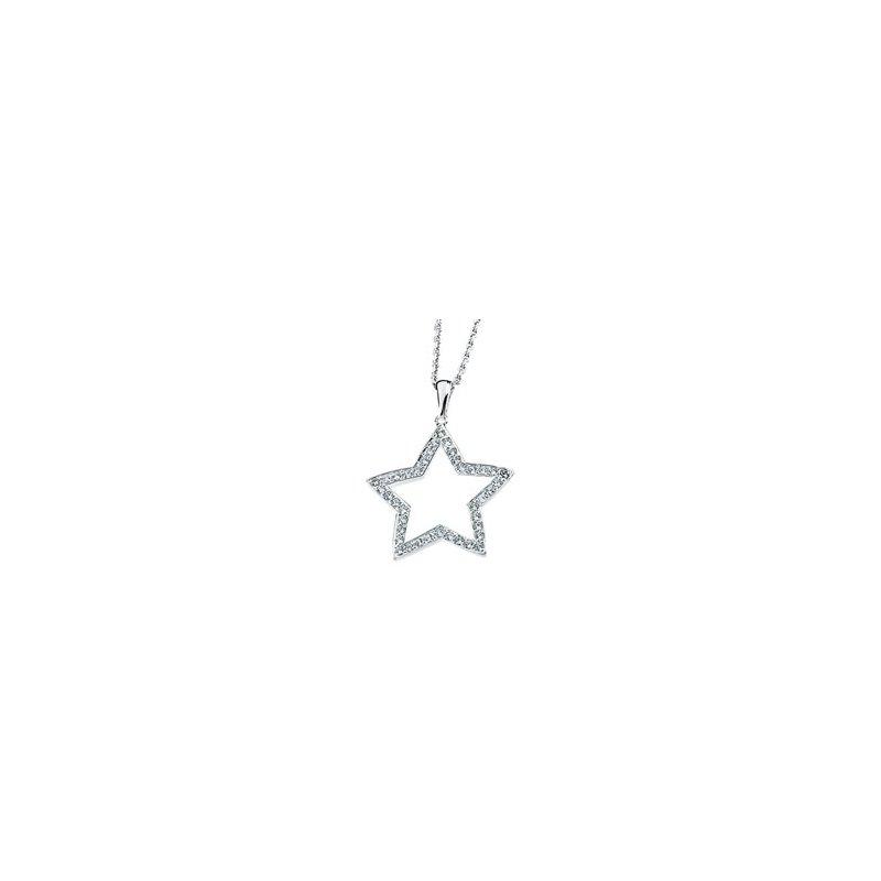 Ladies' Jewelry Cubic Zirconia Star Necklace