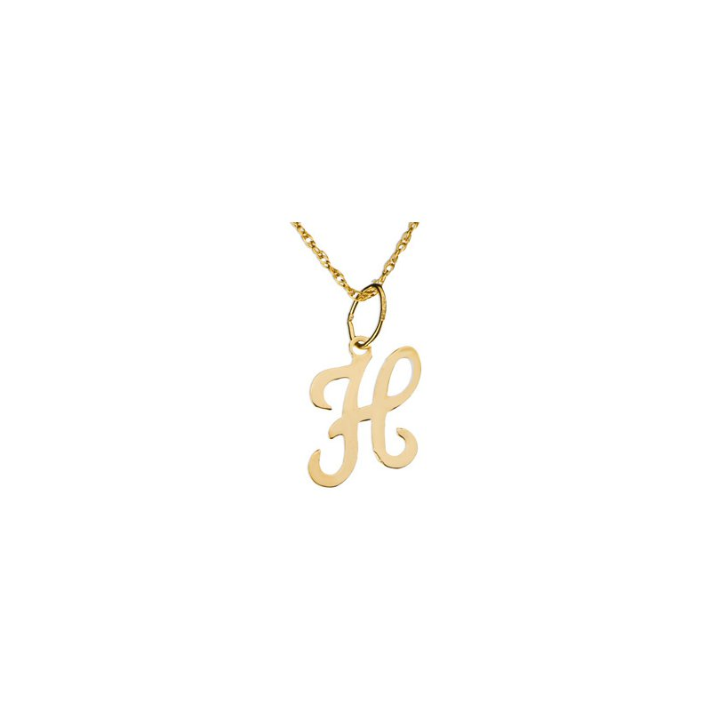 "Ladies' Jewelry Initial ""H"" Necklace"