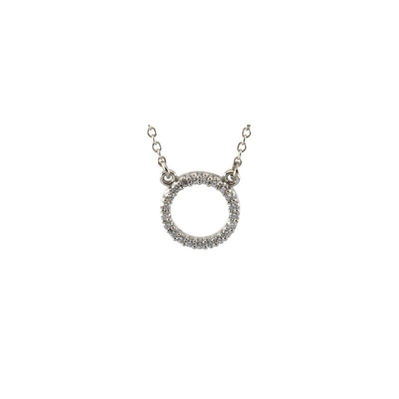 Ladies' Jewelry Platinum Diamond Circle Necklace