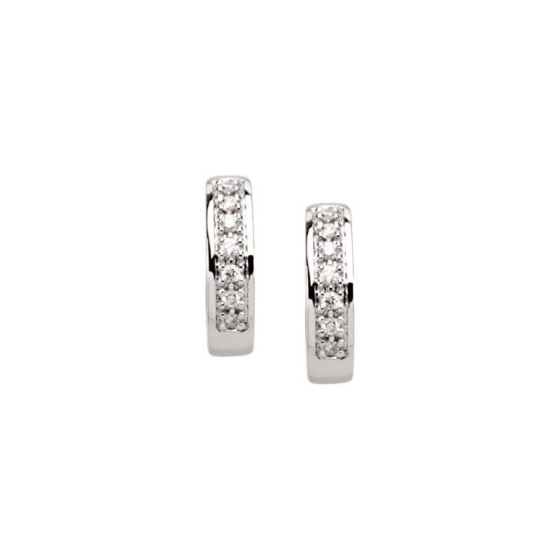 Ladies' Jewelry Diamond Hinged Earrings