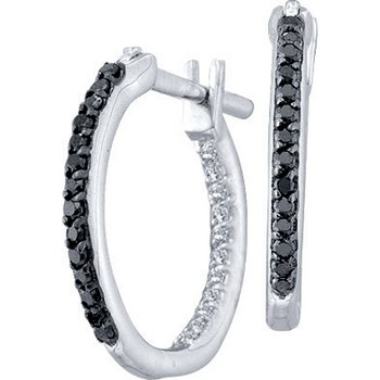Diamond Fashion Hoops