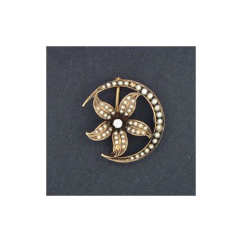 Antique/Vintage Diamond and Pearl Brooch