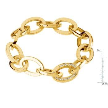 Link Bracelet with Diamond Clasp