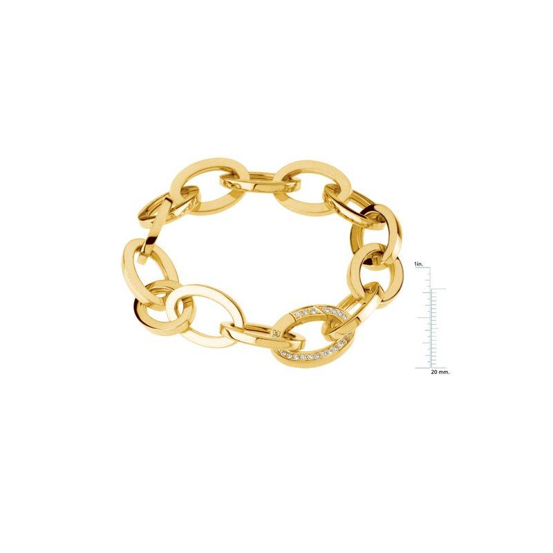 Ladies' Jewelry Link Bracelet with Diamond Clasp