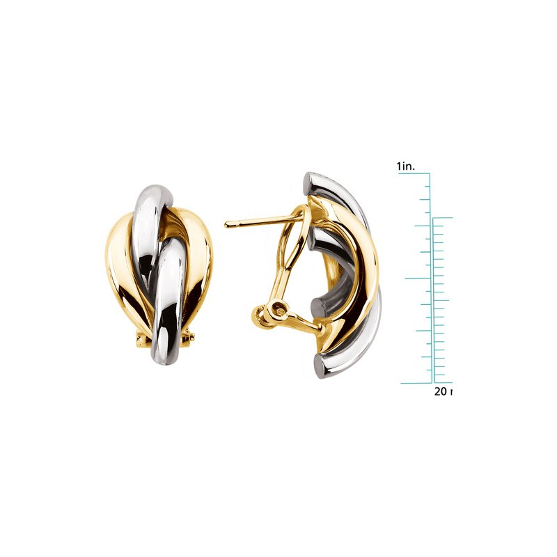 Ladies' Jewelry Gold Knot Earrings