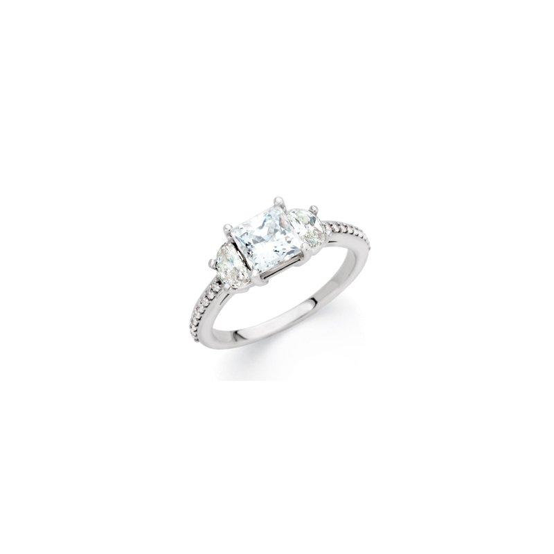 Holiday Ideas Semi-Mount 3 Stone Engagement Ring