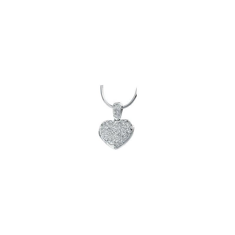 Ladies' Jewelry Cubic Zirconia Heart Locket Necklace
