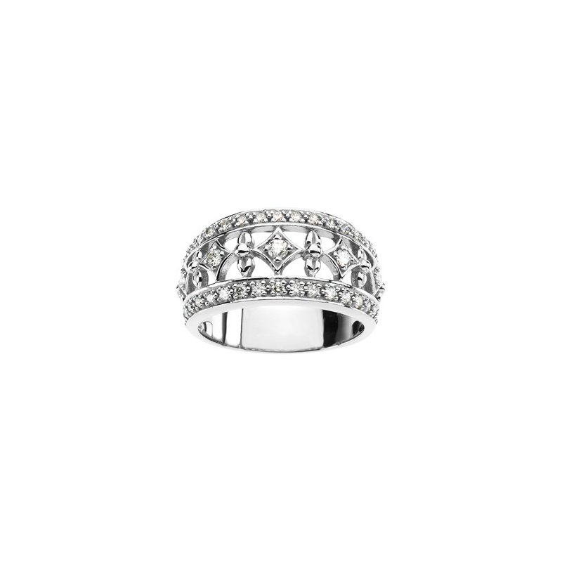 Ladies' Jewelry Platinum Diamond Ring