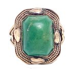 Estate & Vintage Lady's vintage turquoise and yellow gold ring