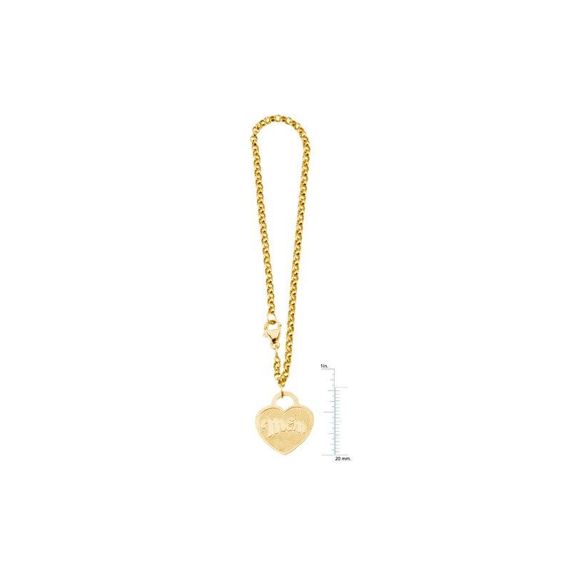 "Ladies' Jewelry ""Mom"" Heart Charm Rolo Bracelet"