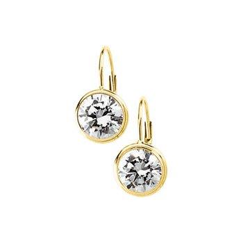 Cubic Zirconia Solitaire Earrings