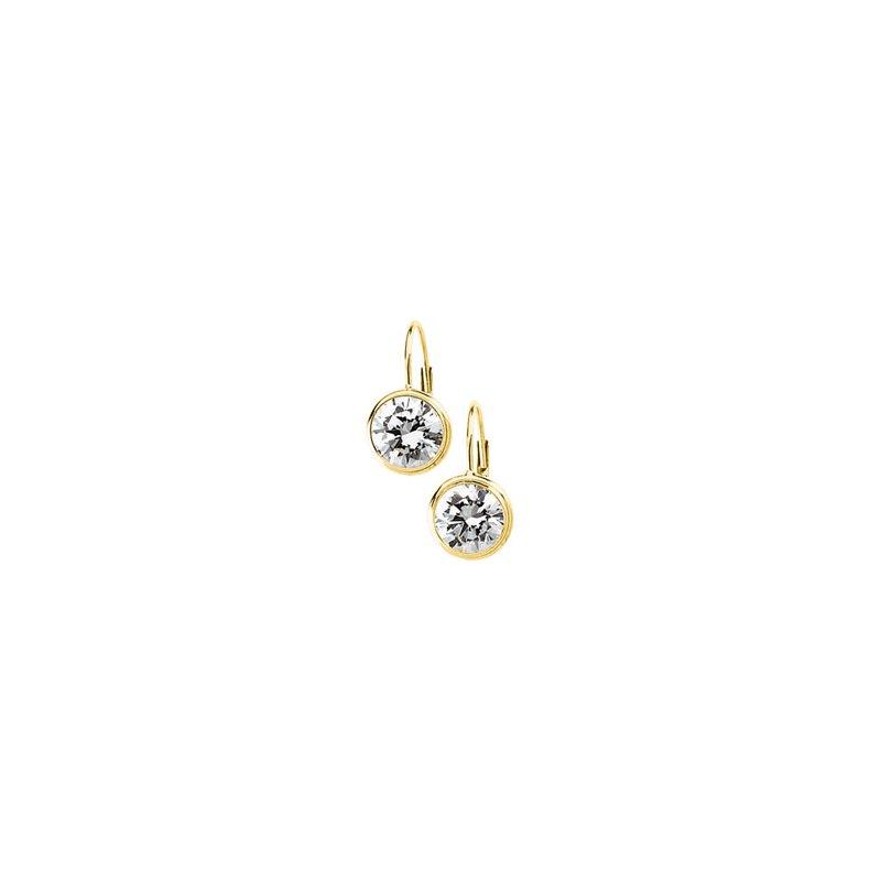 Ladies' Jewelry Cubic Zirconia Solitaire Earrings