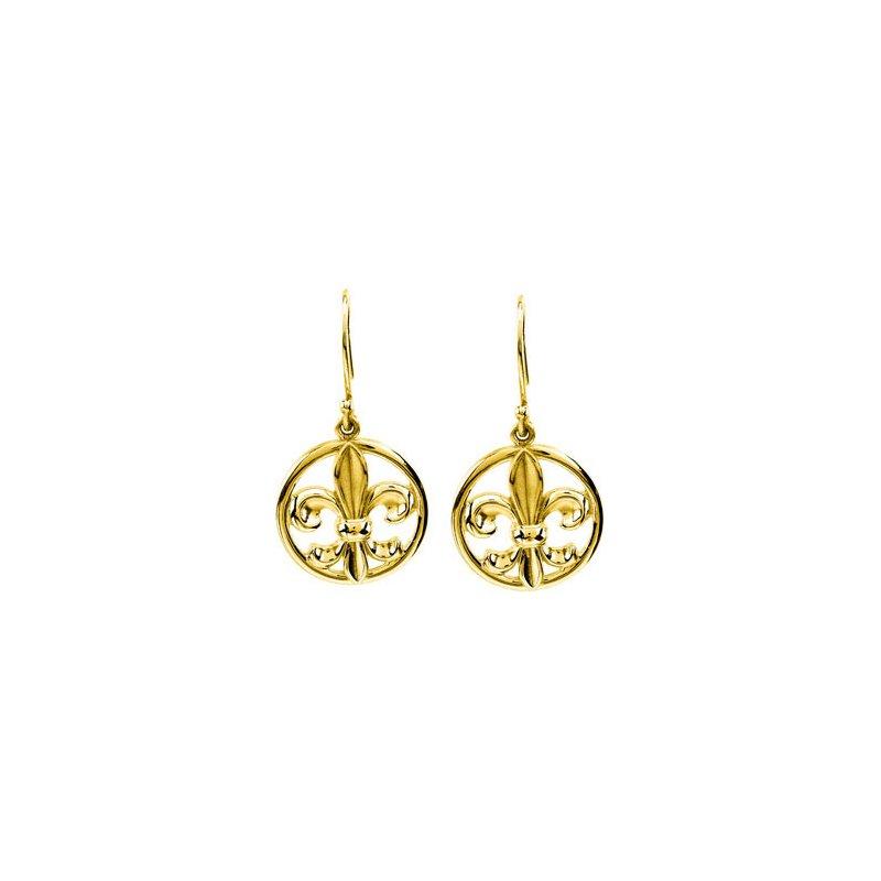 Ladies' Jewelry Fleur-de-lis Earrings