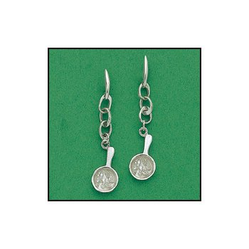 "The Heartbeat of El Paso Gift Collection: ""Mexican Food Capital of the World®"" Fajita Dangle Earrings in Sterling Silver"
