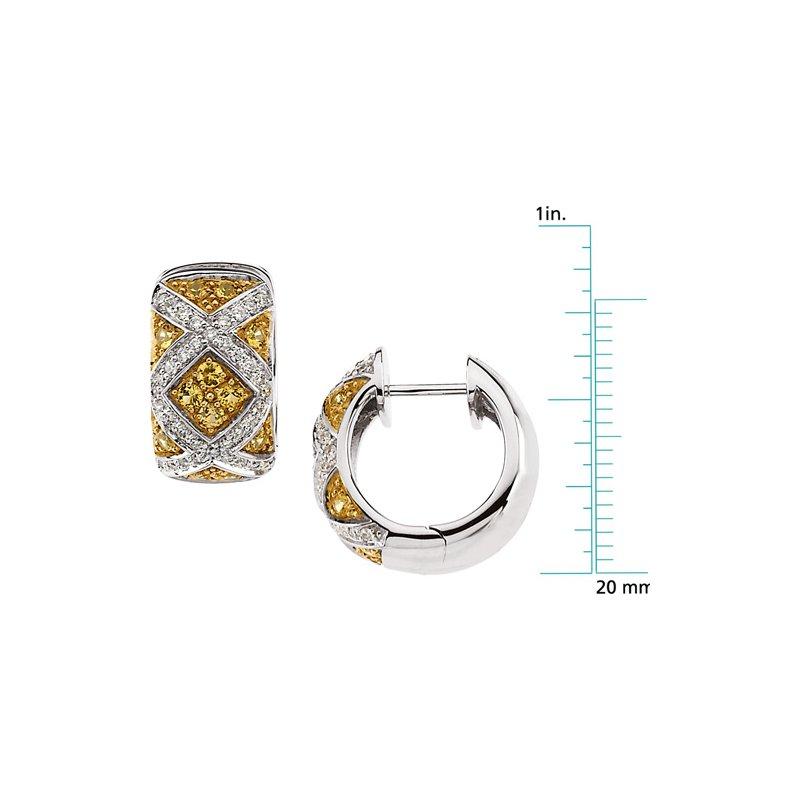 Ladies' Jewelry Genuine Yellow Sapphire & Diamond Earrings