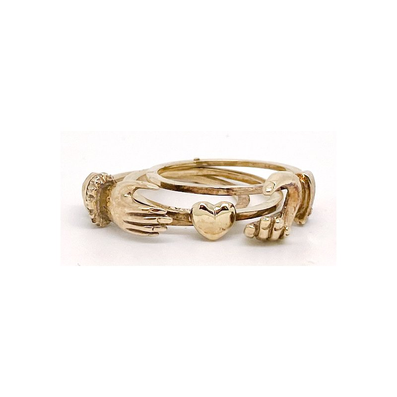 Estate & Vintage Lady's vintage yellow gold Claddagh ring