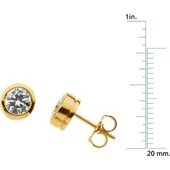 Moissanite Solitaire Earrings