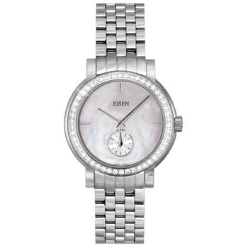 Eisen Lady's Stainless Steel & Diamond Designer Quartz Wrist Watch