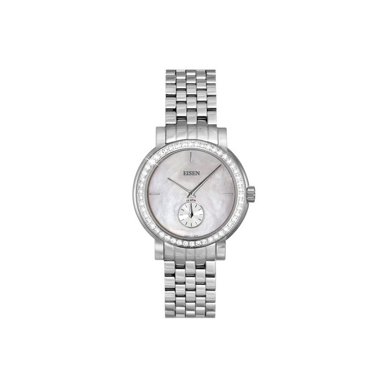 Eisen Watches Eisen Lady's Stainless Steel & Diamond Designer Quartz Wrist Watch