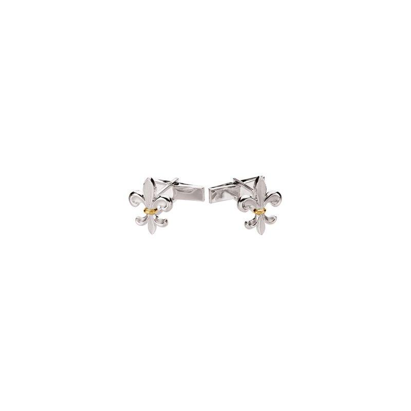 Men's Jewelry Fleur-de-lis Cuff links