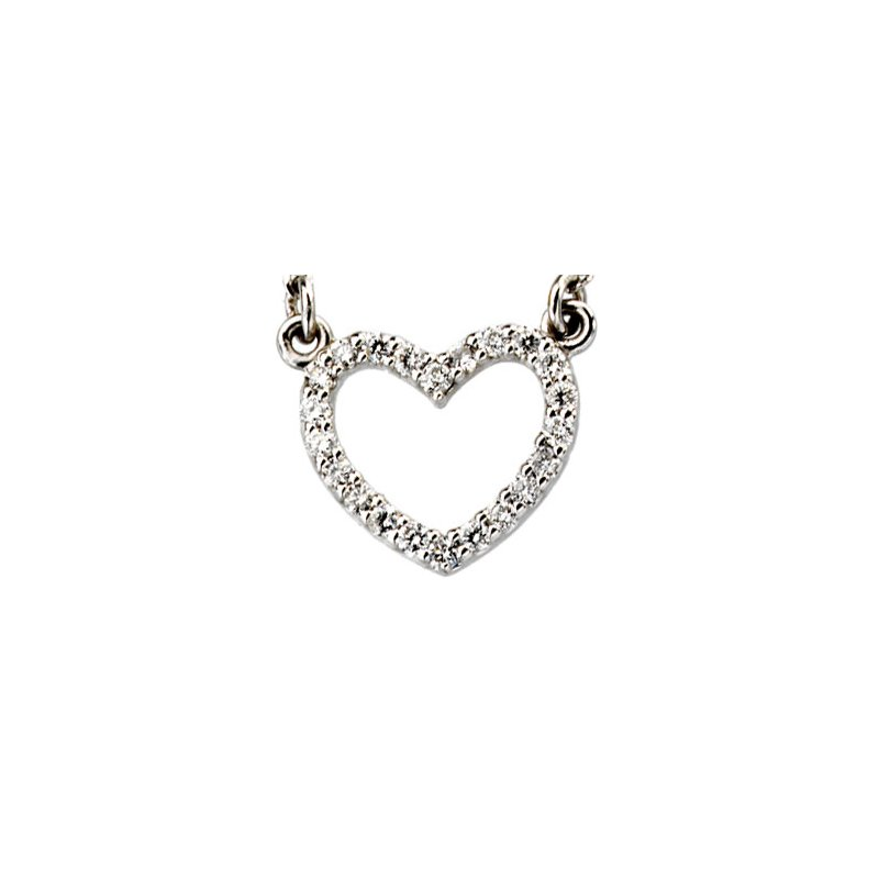 Ladies' Jewelry Diamond Heart Necklace