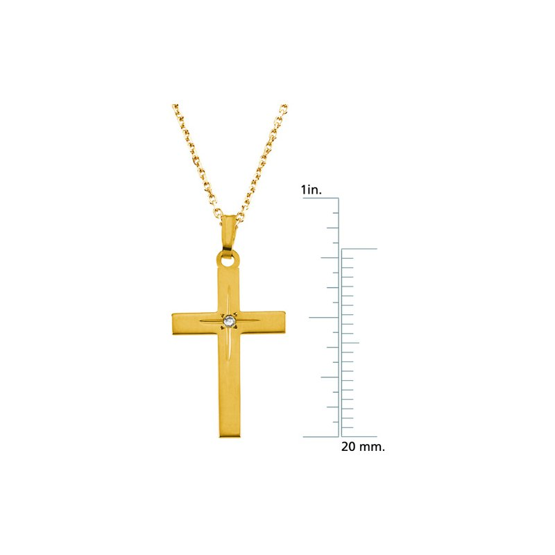 Religious Jewelry Cross Pendant with Diamond