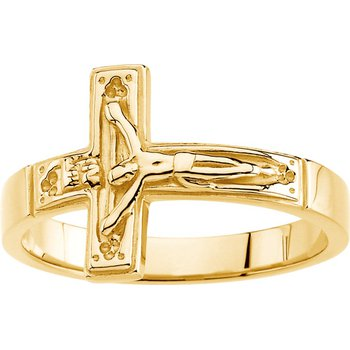 Crucifix Chastity Ring with Box - Sizes 8-12