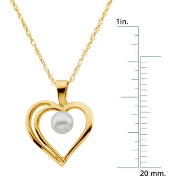 Akoya Cultured Pearl Heart Necklace