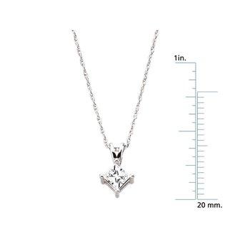 Princess-Cut Diamond Solitaire Necklace