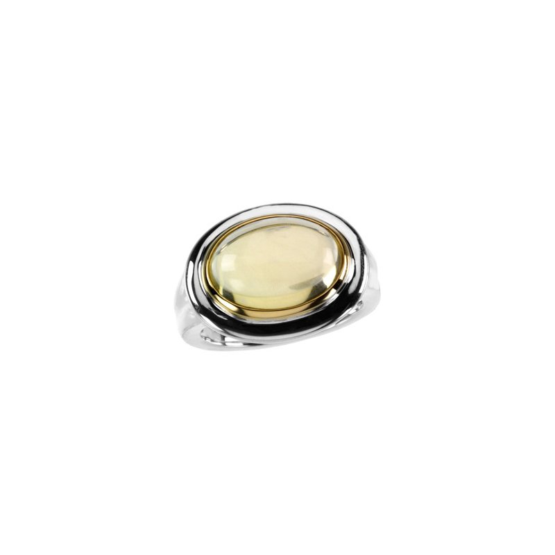 Holiday Ideas Genuine Cabochon Lime Quartz Ring