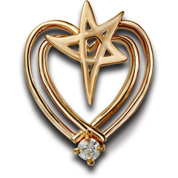 Heartbeat of El Paso Collection: El Paso Star® and Heart 14K Gold Pendant