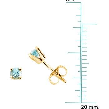 Children's Genuine Blue Zircon December Birthstone Earrings