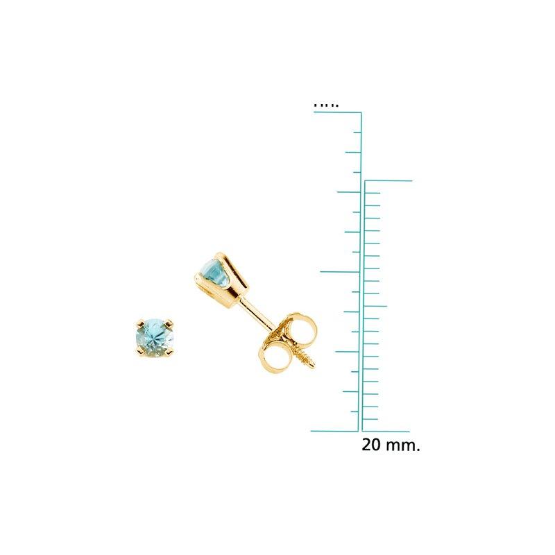 Birthstone Jewelry Children's Genuine Blue Zircon December Birthstone Earrings
