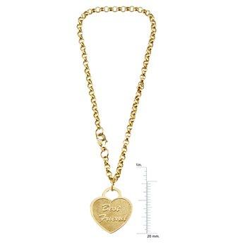 """""""Best Friends"""" Heart Charm Rolo Bracelet"""