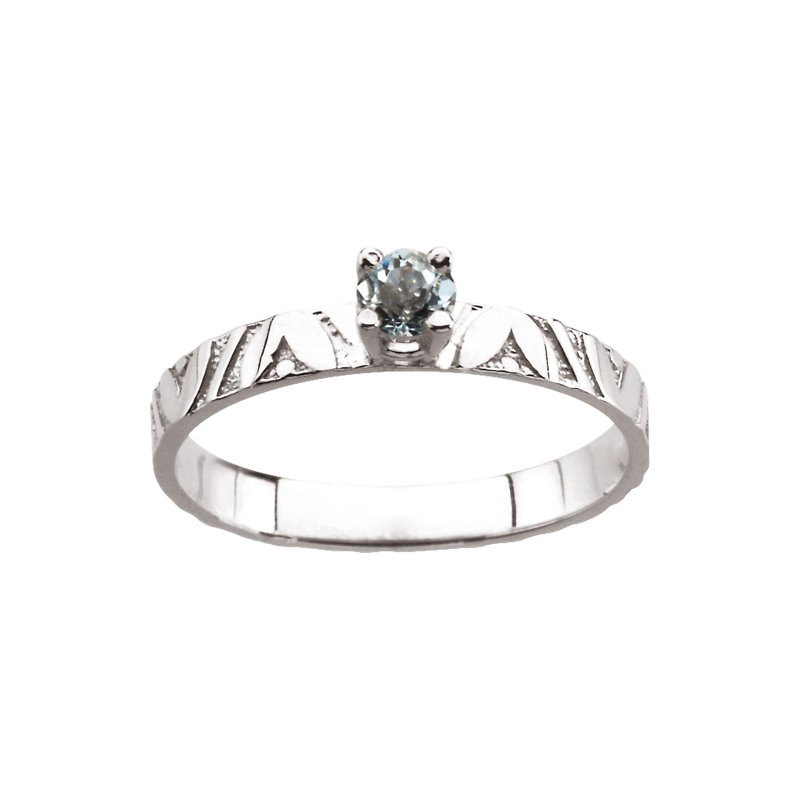 Birthstone Jewelry Children's Genuine Aquamarine March Birthstone Ring